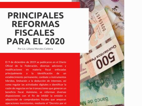 Boletín Informativo: Principales Reformas Fiscales para el 2020