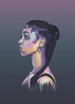 Digital FKA Twigs painting Sophie Barrott    Artist   Art Prints