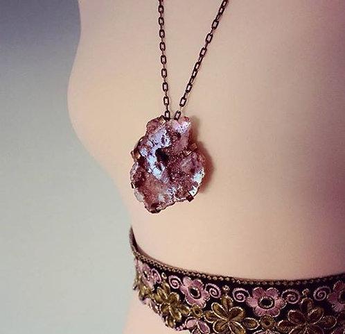 'Gypsy Heart' Unique Crystal Geode Necklace
