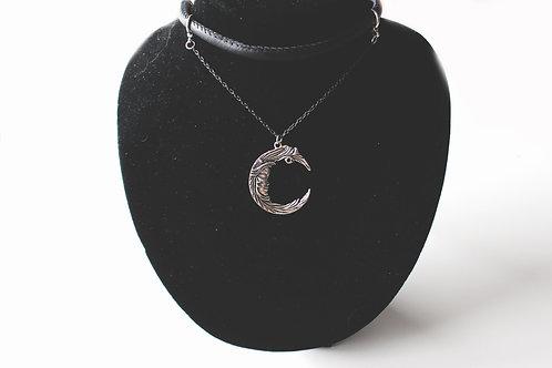 'Moonlight' Leather Chain Choker