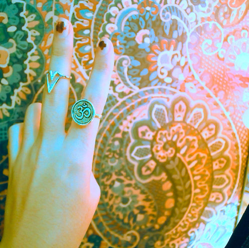 Buddhist 'Ohm' Ring