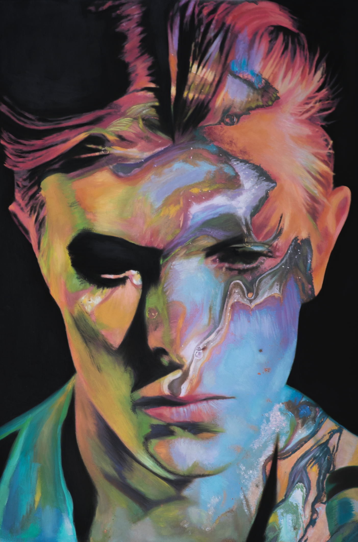 Starman Davie Bowie Painting Sophie Barrott |  Artist | Art Prints