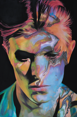 Starman Davie Bowie Painting Sophie Barrott    Artist   Art Prints