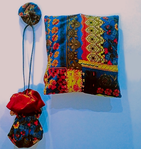 Autumn Gypsy Cushion/Boho bag/ Scrunchie