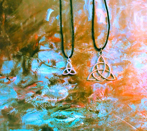 Silver Triquetra Pendant Necklace