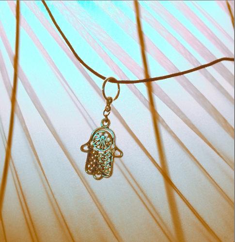 Silver Intricate Hamsa Necklace