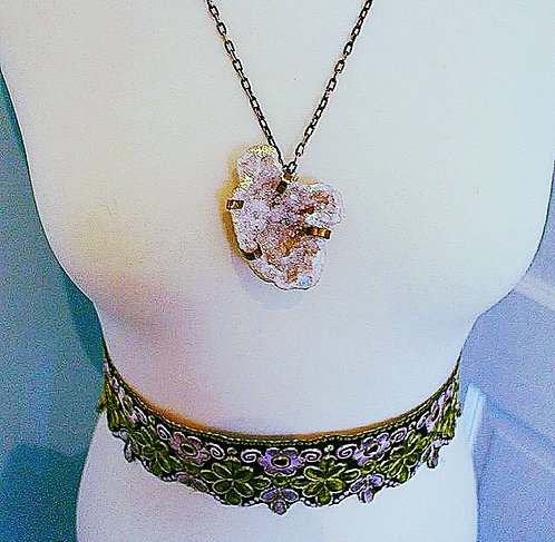 'Jewel' Gypsy Boho Crystal Geode Necklace