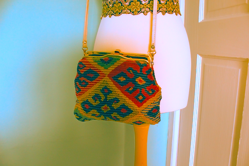 Indian Patchwork Handmade Clutch Fasten bag