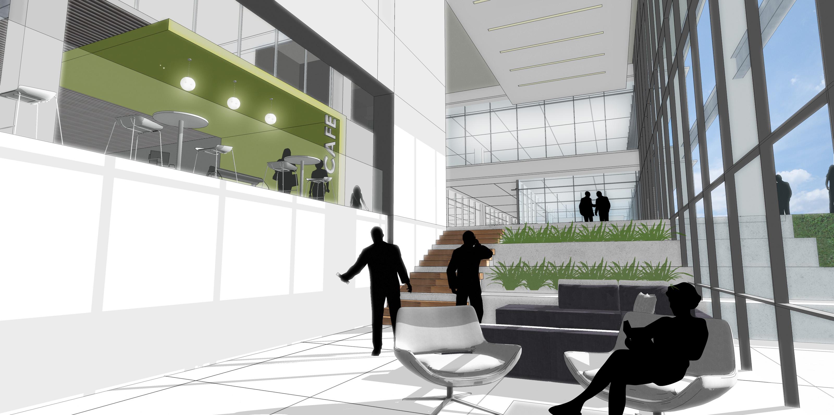 Landing_Detail Model_gensler building_rendering
