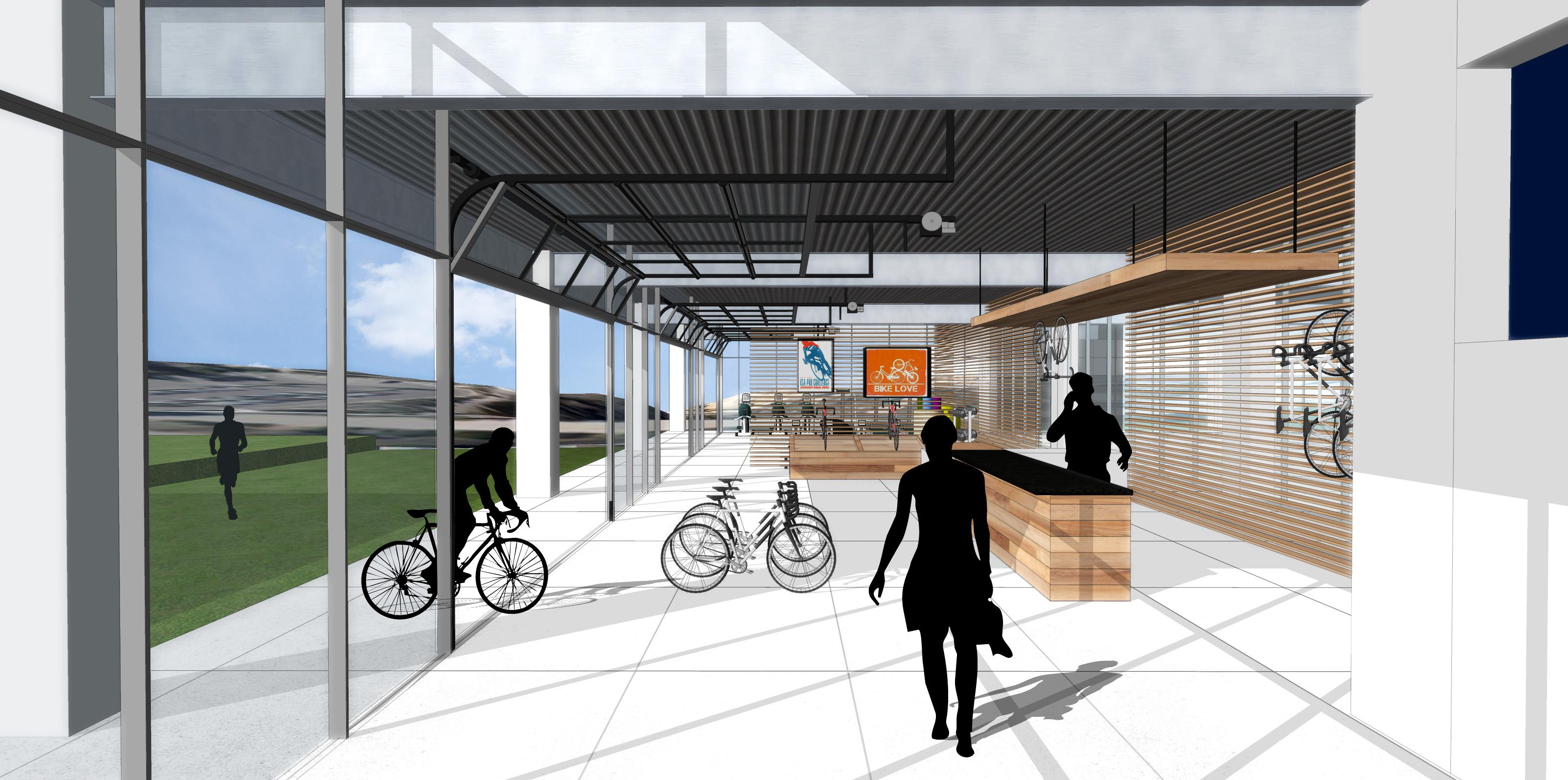 Bike Shop_Detail Model_gensler building_rendering