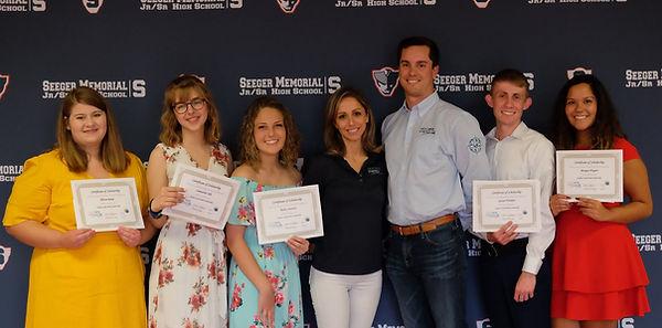 Jordan Creek Wind Scholarship Group Pic.