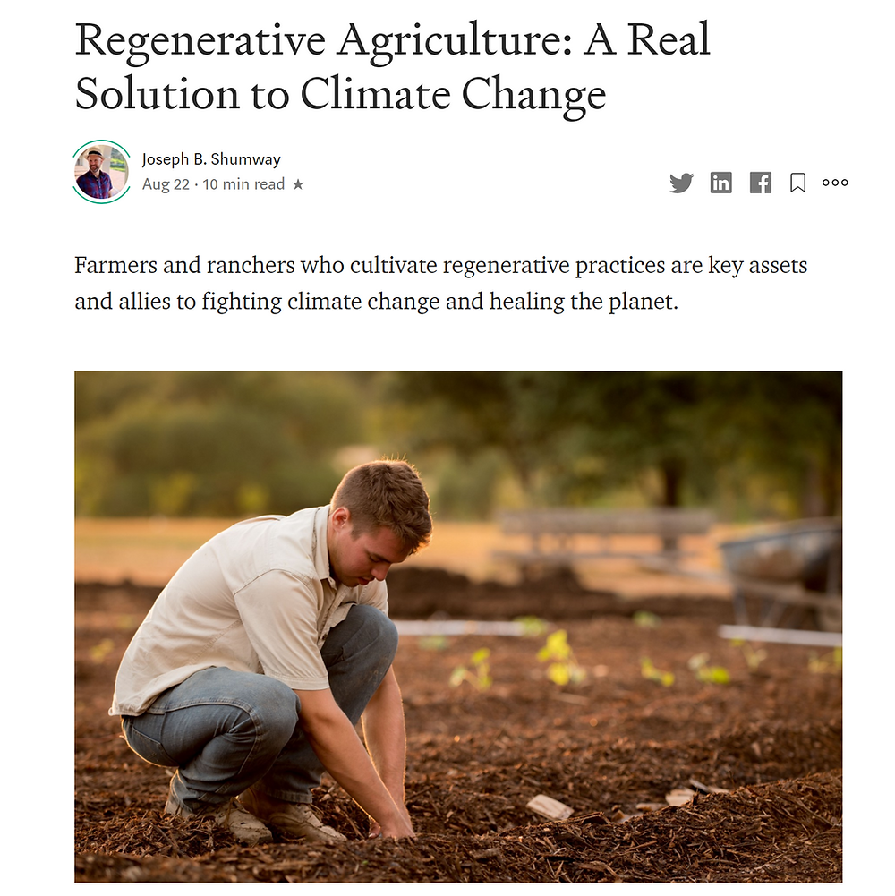 My Recent Medium Article about Regenerative Agriculture