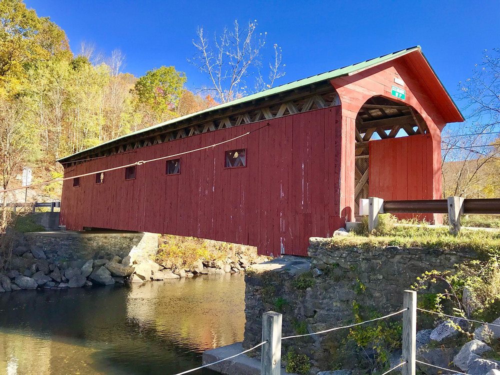 A covered bridge featured in several Norman Rockwell paintings!