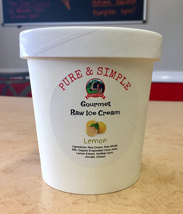 Raw Lemon Ice Cream