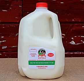 Raw Whole Milk Gallon