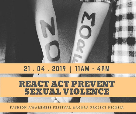 Fashion Awareness REACT ACT PREVENT SEXU