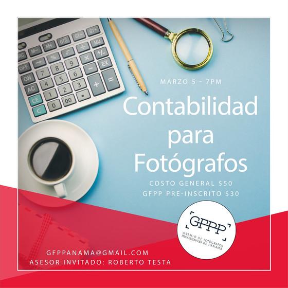 GFPP te invita a: CONTABILIDAD PARA FOTÓGRAFOS