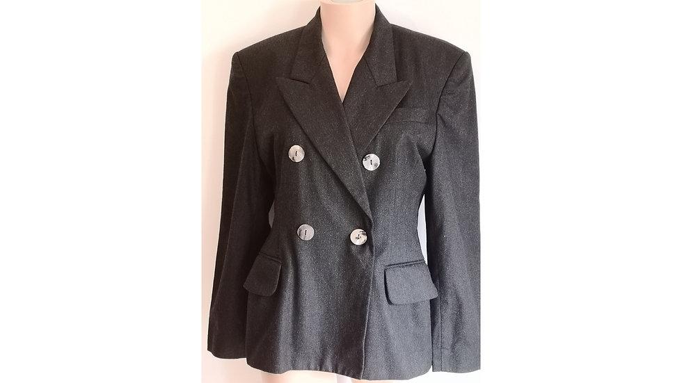 Veste de tailleur croisée vintage en laine TEENFLO