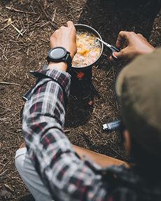 Camper Förbereda Meal