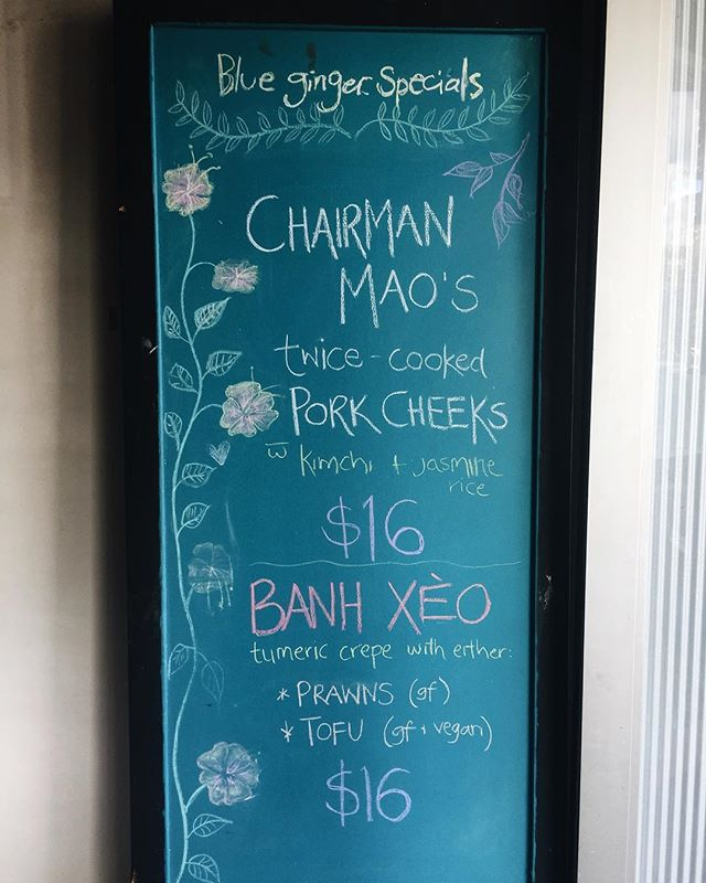 Our specials board is looking goood! 💥 The Chairman Mao Pork Cheeks have been flying out of the kit