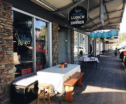 Its the perfect evening for eating outside! All of our menu items can be taken away too - best serve