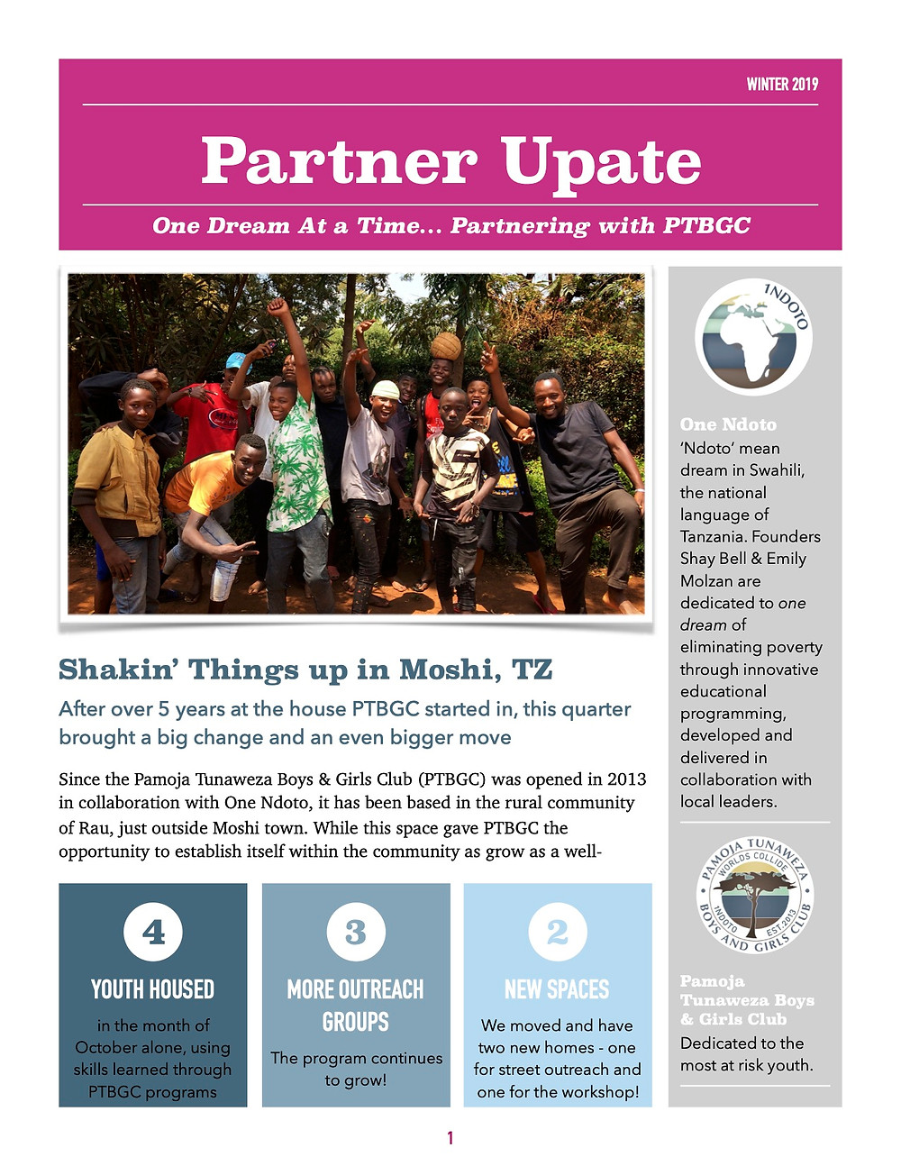 African charity update