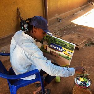 Tanzanian street kid art