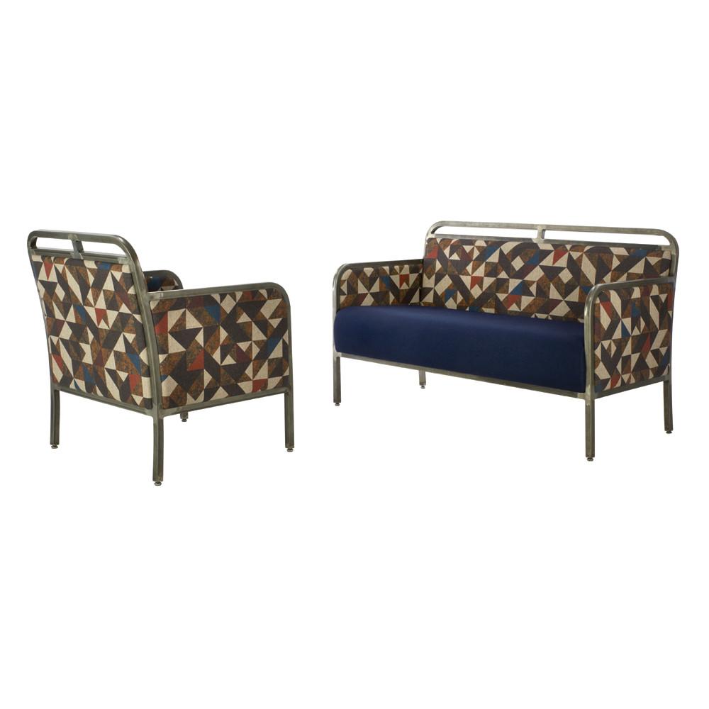 Steel Sofa & Armchair
