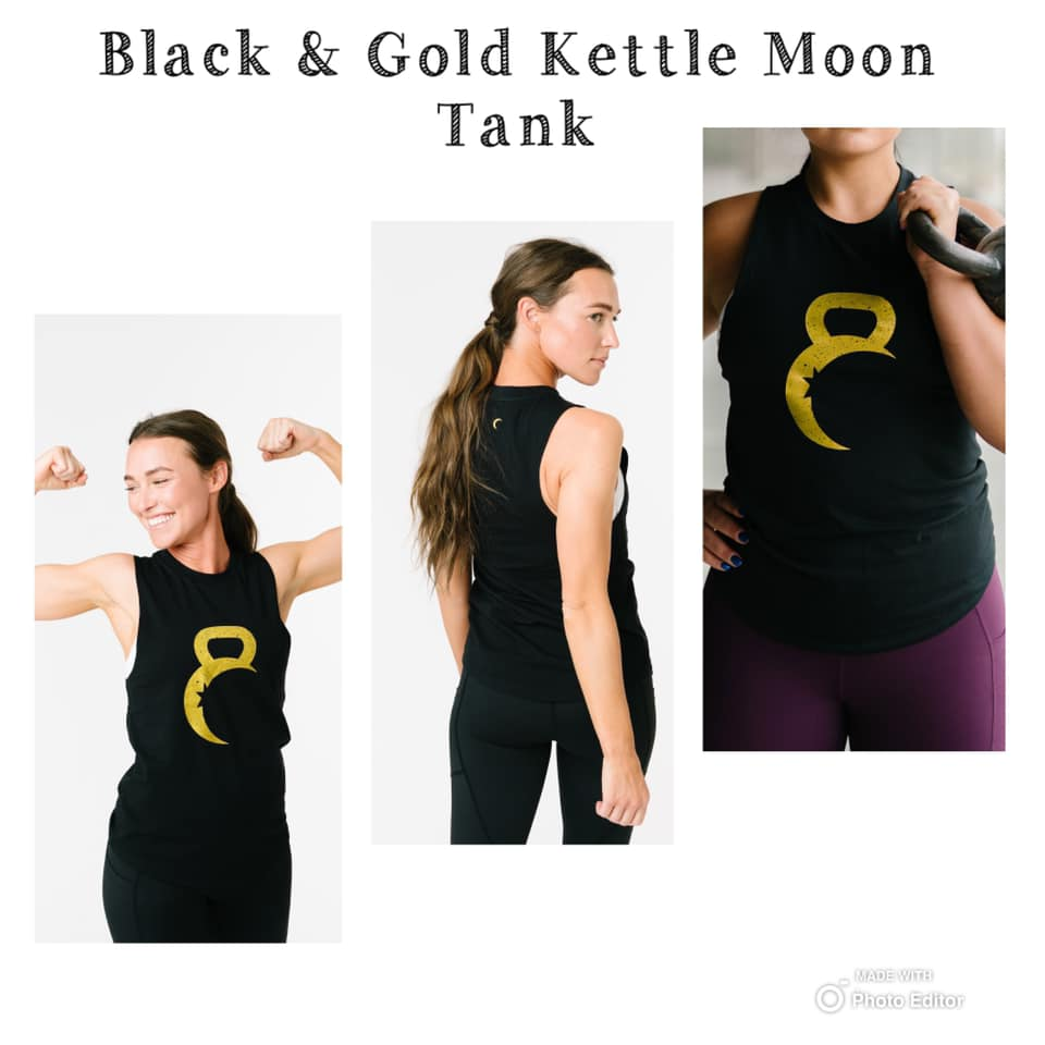 Black and Gold Kettle Moon tank