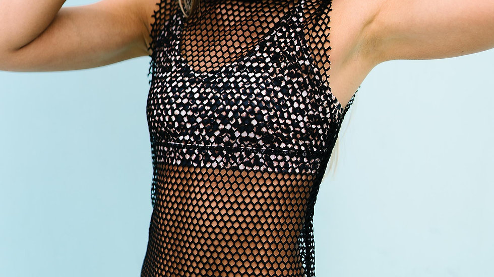 Black Don't Mesh With Me Swim Cover