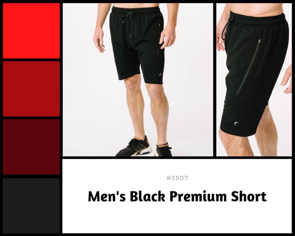 Men's Black Premium Shorts