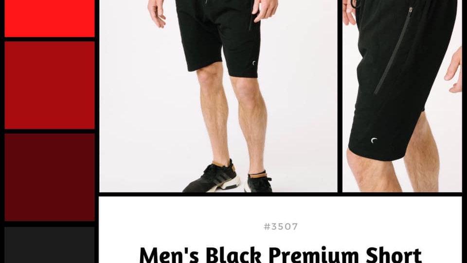 Men's Black Premium Shorts
