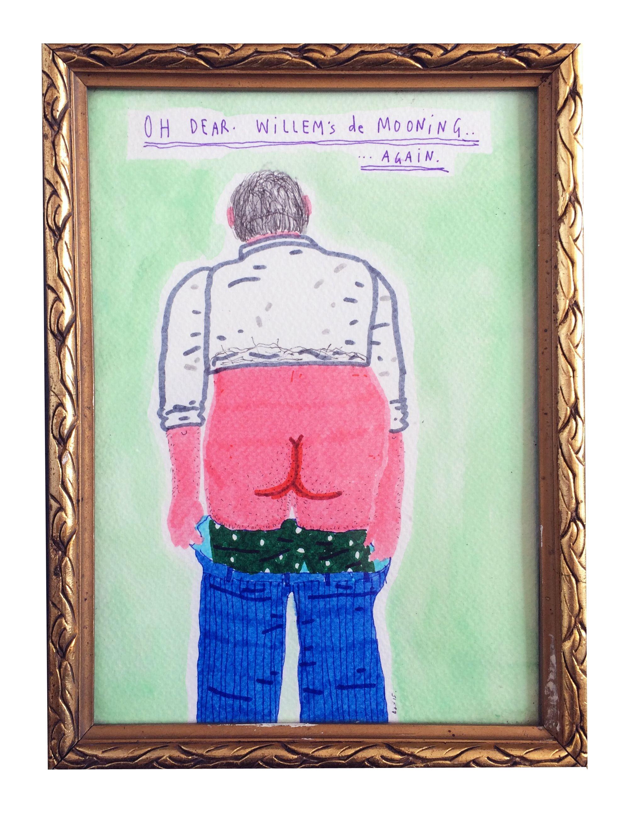Oh dear. Willem's de Mooning....again. 25 x 19 cm.jpg
