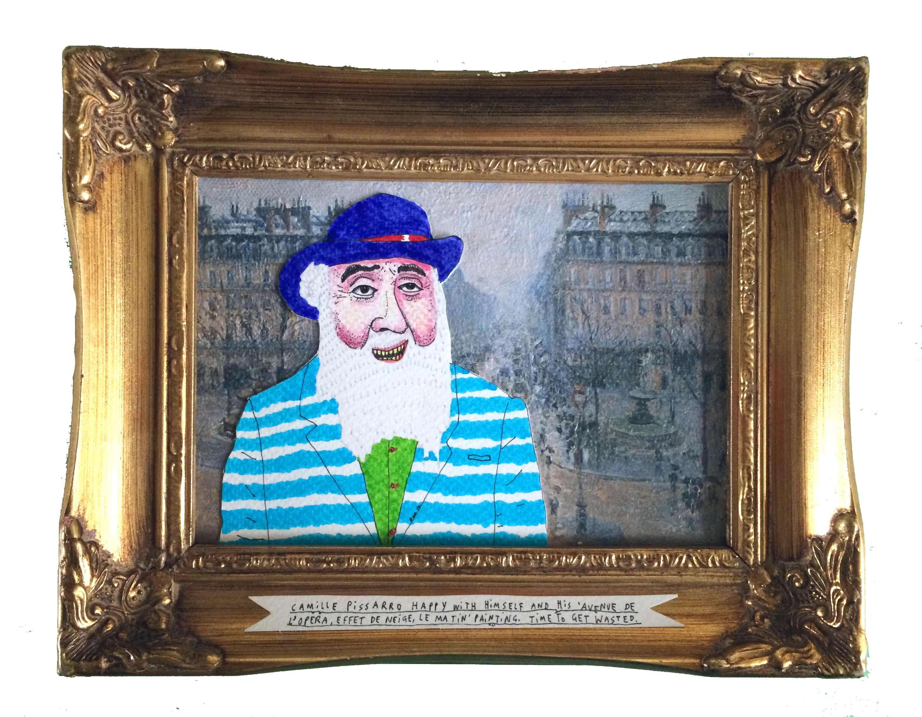 Camille Pissarro happy with himself and his 'Avenue de L'Opera, effet de nei