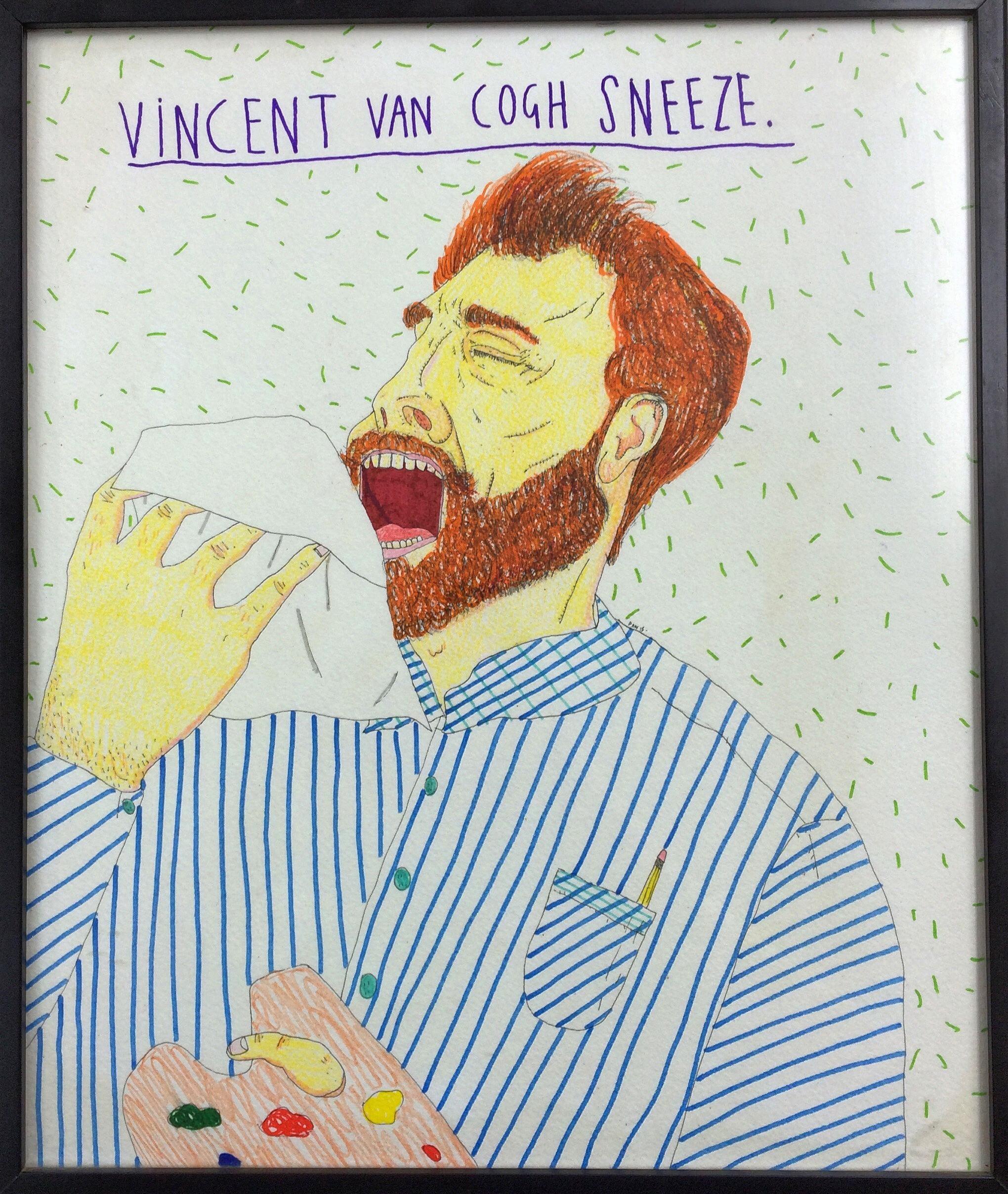 Vincent van Cogh Sneeze. 39 x 32 cm