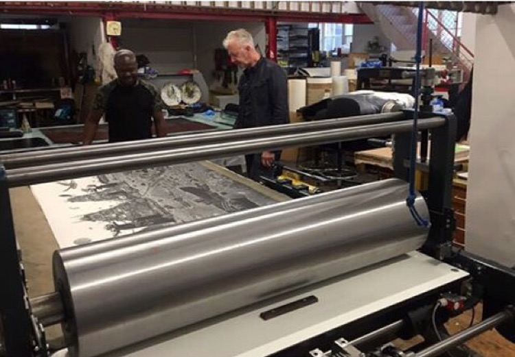 Printing Press with Ade and David