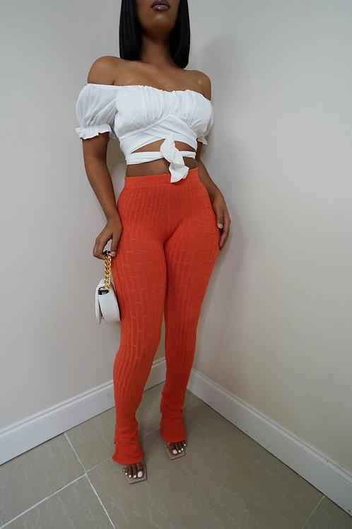 Nita Knit Pants (Orange)