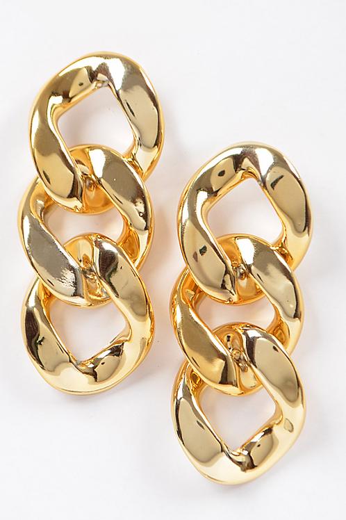 Ccb Chain Earring-Gold