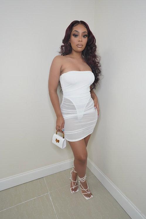 Sade Mini Dress (White)