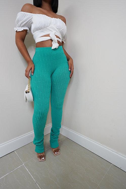 Nita Knit Pants (Seafoam)