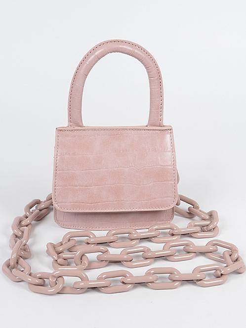 Cayla Croc Mini Bag(Pink)
