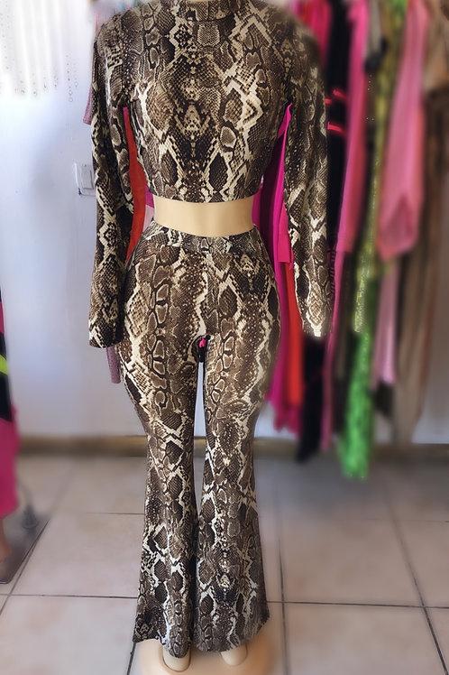 Alaysia Snake Pants SEt