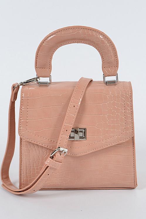 Monotone Snakeskin Bag (Pink)