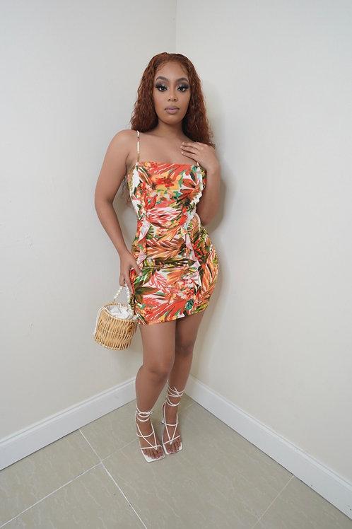 Mica Dress (Orange)