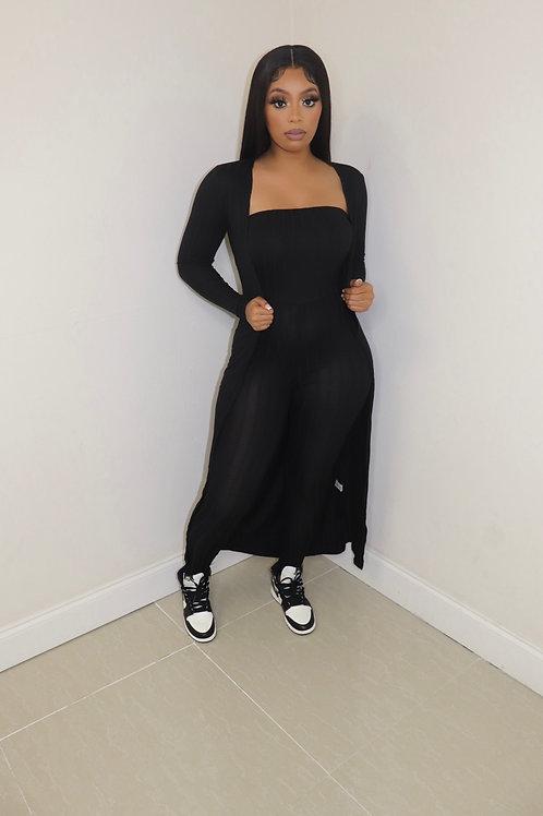 Kia Ribbed Tube Jumpsuit (Black)