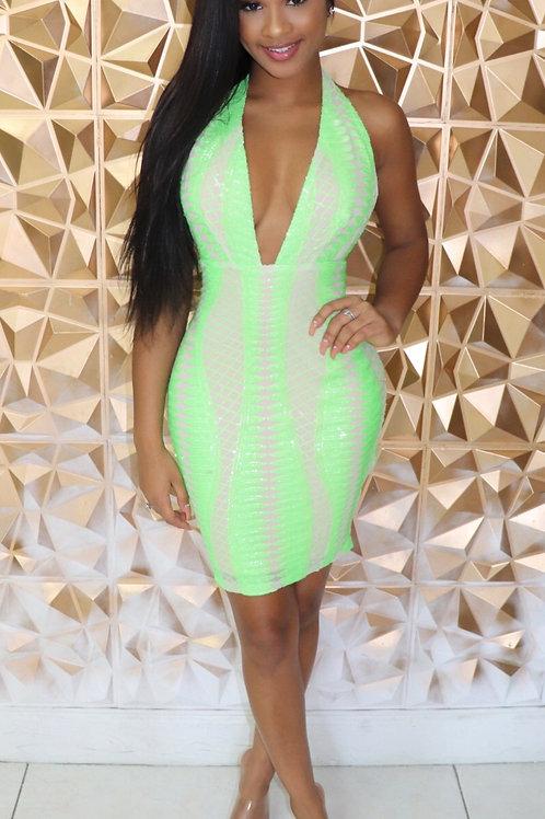 Londa Dress-Lime