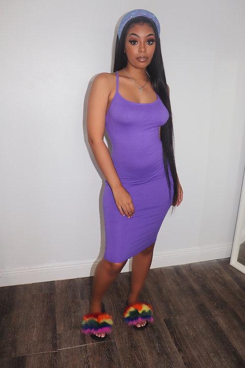 Elle Mini Dress-Purple