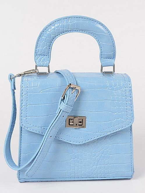 Monotone Snakeskin Bag (Blue)
