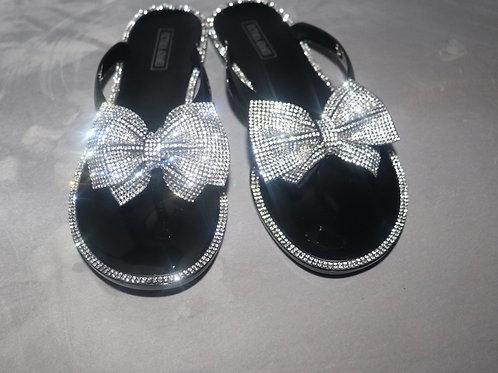 Prissy Sandals-Black