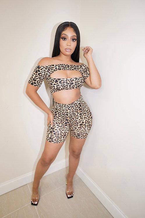 India Leopard Romper